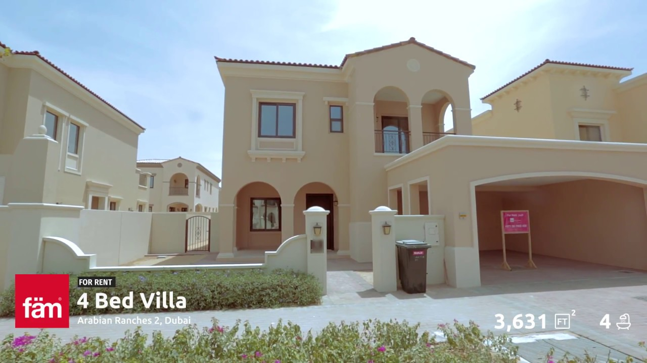 4 Bedroom Type 3 Villa For Rent At Lila Arabian Ranches Phase 2 Dubai Youtube
