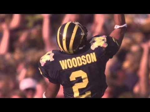 100% authentic 6d9ad cf087 Charles Woodson  The College Legend  Highlights