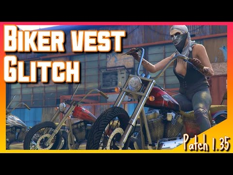 How To Mod Biker Vest On Female Character | Patch 1.35 | GTA V online GamePlay