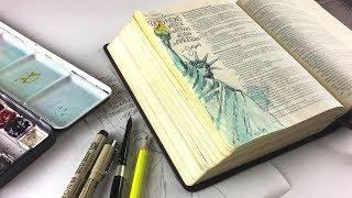 Bible Journaling Luke 4:18-19 - Proclaim Good News