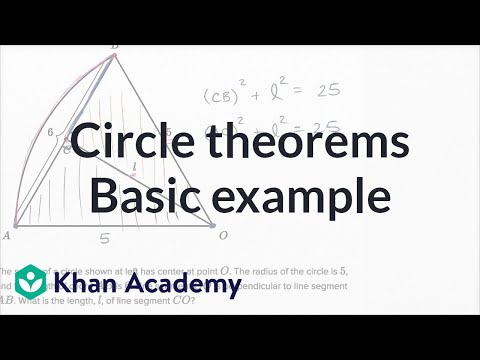 Circle Theorems — Basic Example | Math | New SAT | Khan Academy