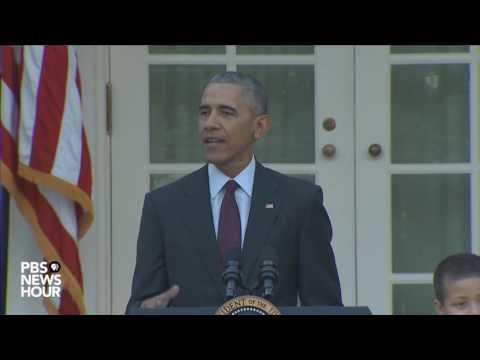 Watch President Obama's final turkey pardoning