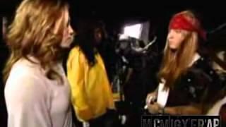 eminem meets jessica biel backstage