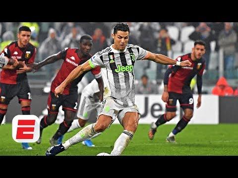 Did Cristiano Ronaldo dive to earn Juventus' winning penalty vs. Genoa?   Serie A