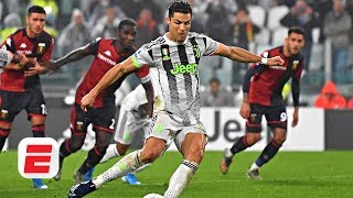 Did Cristiano Ronaldo dive to earn Juventus' winning penalty vs. Genoa? | Serie A