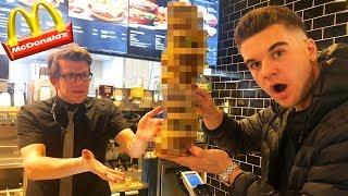 McDonalds PRANK   BURGER MIT 100 MAL FLEISCH BESTELLEN