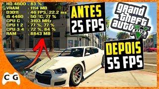 Como Aumentar Muito o FPS de GTA 5 em PC Fraco 2018 - Tutorial + Gameplay e Teste #444