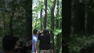 Mir Geschiss schreit Schokodrink im Emskirchner Wald