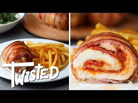 Bacon Wrapped Stuffed Chicken Recipe