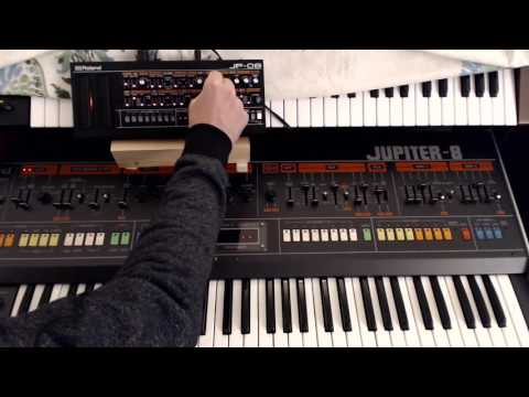 Roland jp08 vs Jupiter 8 detailed audio comparison - 720 HD for accurate sound