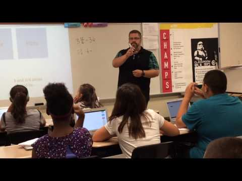 Jack Harris Teaches his 5th Grade Class about Dividing Fractions