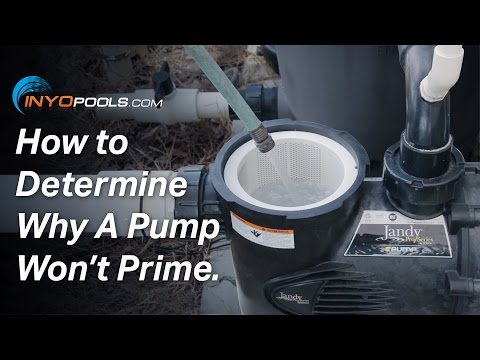 How To: Determine Why A Pool Pump Won't Prime