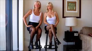 Mature lesbian women pokie nipples in pantyhose very sexy legs
