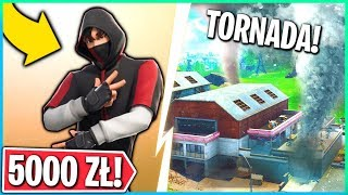 NEW SKIN FOR 5000 ZŁ! HOW TO GET IT? TORNADO GETTING CLOSER! (Fortnite Battle Royale)