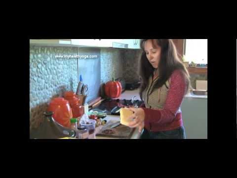 Cooking Vegetarian CousCous with Carrie-Anne. My Health Yoga