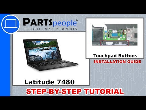 Dell Latitude 7480 (P73G001) Touchpad Buttons Removal and Installation
