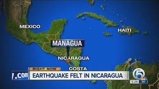 Earthquake felt in Nicaragua