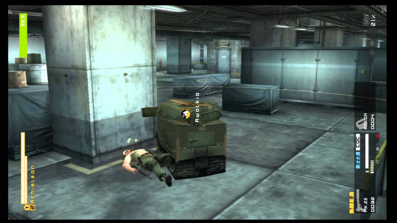 metal gear solid peace walker hd cardboard tank infiltration youtube