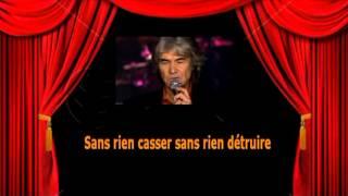 Karaoké Daniel Guichard   La tendresse