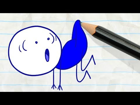 Pencilmate Bumps into the Invisible Man! -in- OUT OF SIGHT - Pencilmation Cartoons for Kids