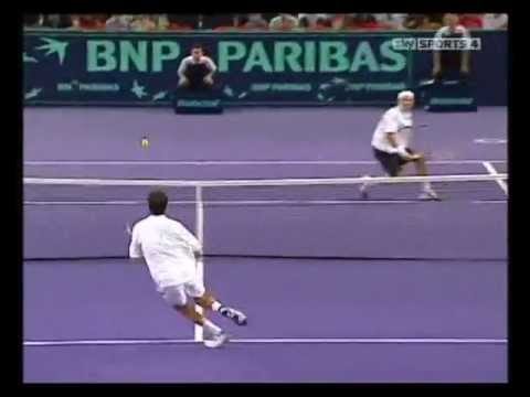Tim Henman vs Roger Federer Quarter-final Paris November 2003 HIGHLIGHTS