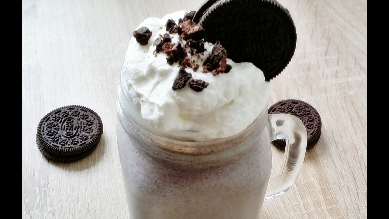 rezept oreo milchshake ganz einfach selber machen homemade oreo milkshake youtube. Black Bedroom Furniture Sets. Home Design Ideas