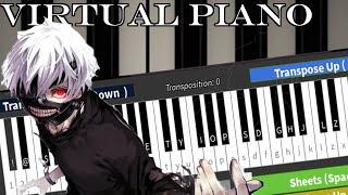 Roblox Virtual Piano: Tokyo Ghoul - Unravel