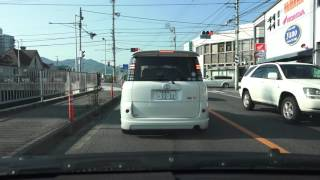 4K 国道437号 愛媛県松山市 環状線~三津浜港