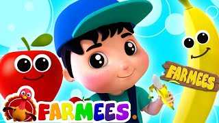 Apples And Bananas | Kindergarten Nursery Rhymes Songs For Kids | Cartoons by Farmees