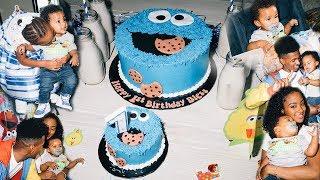 Baby Bless 1st Birthday Party   Cookie Monster Themed  AlittleSliceOfHeavenBakery
