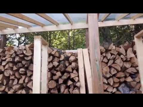 Firewood Seasoning Experiment - Greenhouse vs Open Air Stacking - Part1