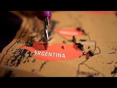 ASMR Scratch Off World Map (oddly satisfying)