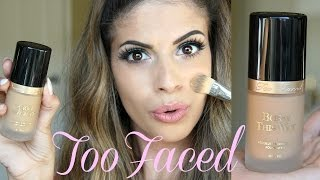 NEW TooFaced Born this way Foundation FULL Review & Demo!