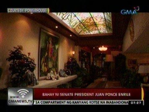 24 Oras: Bahay ni Sen. Pres. Juan Ponce Enrile