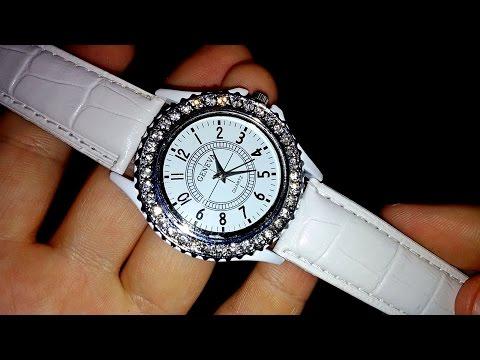 Супермодные женские часы с инкрустацией горного хрусталя из Китая (Aliexpress)