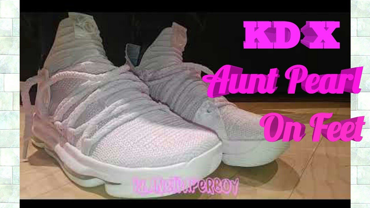KD 10 (kevin Durant )Aunt Pearl On feet quick review - YouTube 92004da57b