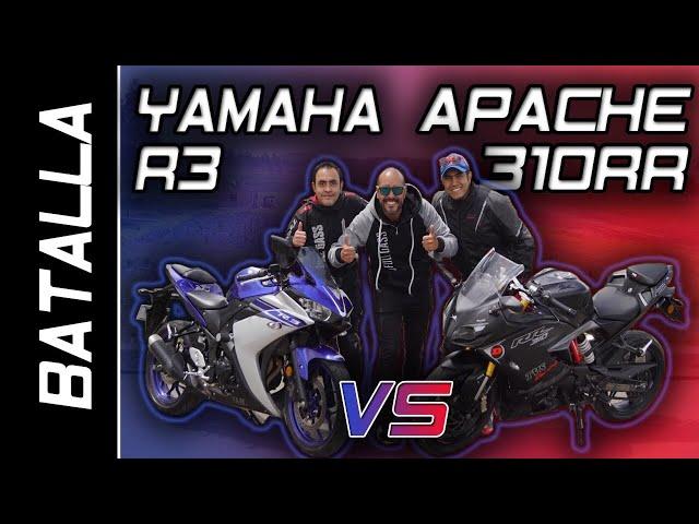 APACHE 310RR VS YAMAHA R3 | BATALLA A MUERTE | #FULLGASS