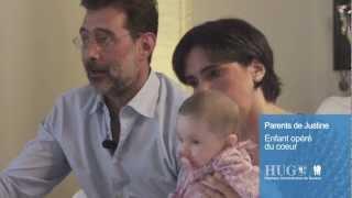 Opération du coeur: le témoignage des parents de Justine