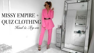 NEW IN MISSY EMPIRE / QUIZ CLOTHING HAUL // Summer Try-on!
