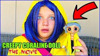 CREEPY CORALINE DOLL THE MOVIE! Coraline Dollmaker Rewind!