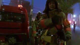 ★決定的瞬間★火事発生!数十台の消防車で騒然!