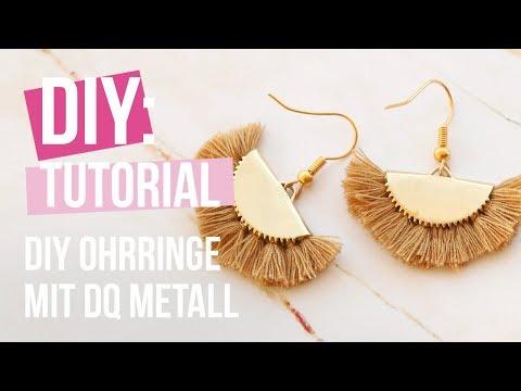 Schmuck machen: DIY Ohrringe mit DQ Metall und Quasten ♡ DIY