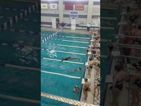 Ashia Lovelace swim Gateway School vs.  Oakland Catholic 2/2018