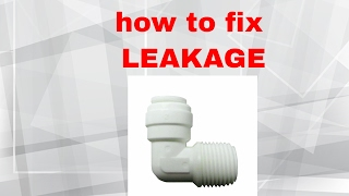 RO quick connect Leakage Repairs thumbnail
