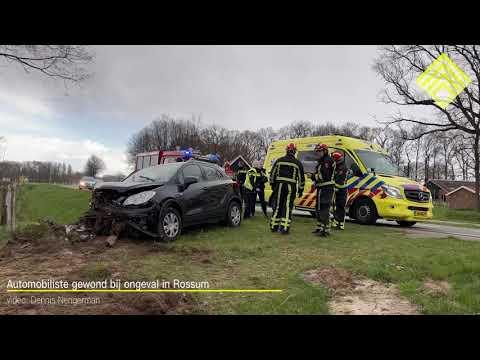 Automobiliste gewond bij ongeval in Rossum