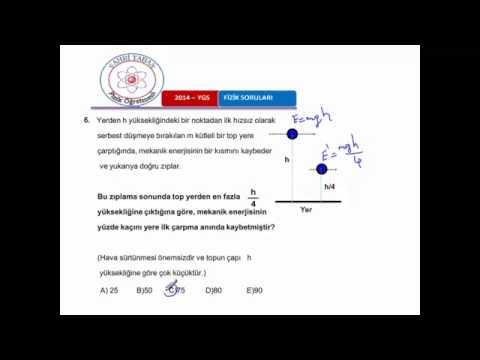 2014 ygs fizik sorulari ve çözümleri 13 soru