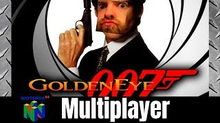 Drunken N64 007 GoldenEye Multiplayer Action! Blast From The Past.