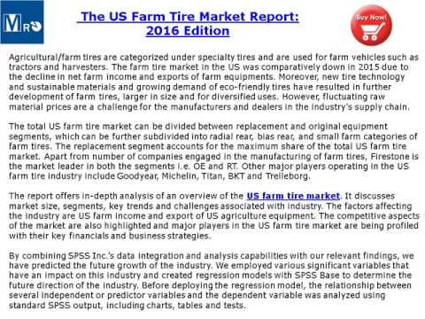 US Farm Tire Market Report 2016 Edition