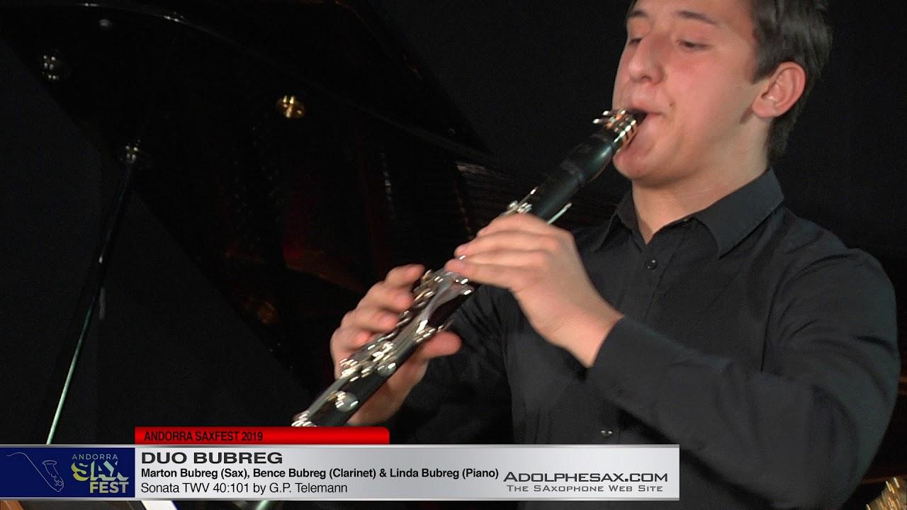 ANDORRA SAXFEST - Duo Bubreg - Sonata TWV 40 101 G P  Telemann
