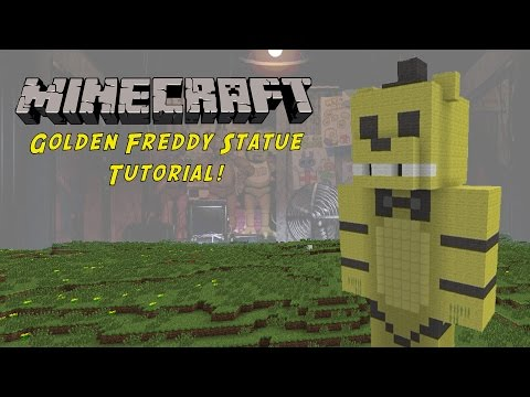Minecraft Tutorial: Golden Freddy (Five Nights At Freddys) Statue